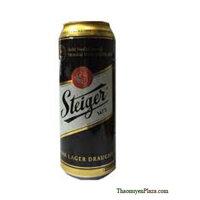 Bia Steiger đen 11° Dark Lager lon 500ml
