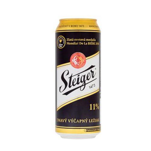 Bia Steiger đen 11° – Dark Lager, lon 500ml