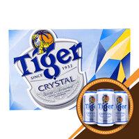 Bia Tiger Crystal thùng 24 lon x 330ml