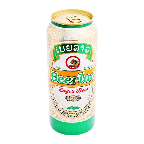 Bia vàng Beerlao lon 500ml