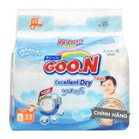 Bỉm-Tã dán Goo.N Jumbo Slim L32 (dành cho trẻ 9-14kg)