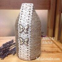 Bình hoa đá xanh ngọc cẩm thạch BH03