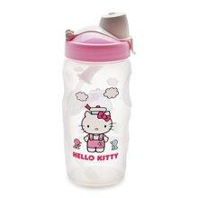 Bình Nước Bằng Nhựa Có Ống Hút Hello Kitty Ribon Kids - Lock&Lock - LKT601R - 350Ml