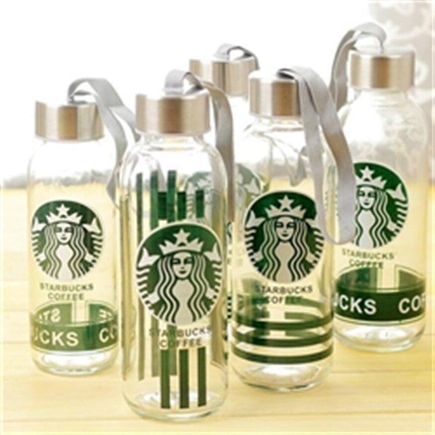 Bình nước uống thủy tinh StarBucks - 300 ml