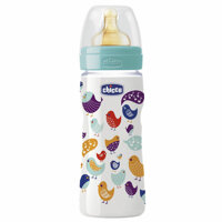 Bình sữa an toàn núm ty cao su Wellbeing Chicco 250ml
