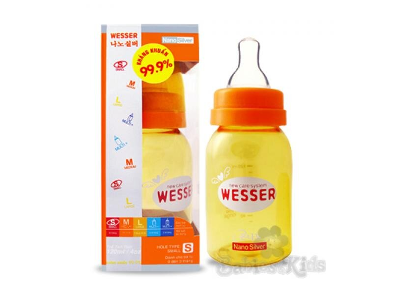 Bình sữa cổ nhỏ Nano Wesser - 140 ml