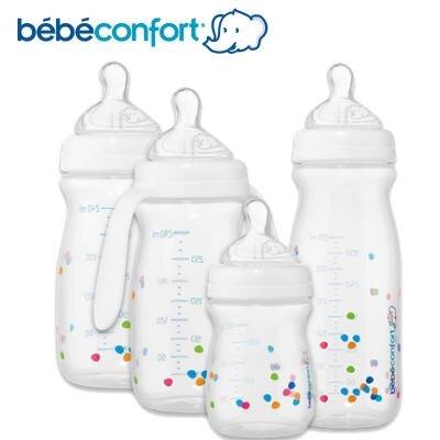 Bình sữa cổ rộng mô phỏng tự nhiên có tay cầm Bebe Confort 240ml
