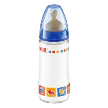 Bình sữa cổ rộng núm ti cao su Nuk 741350 - 300ml