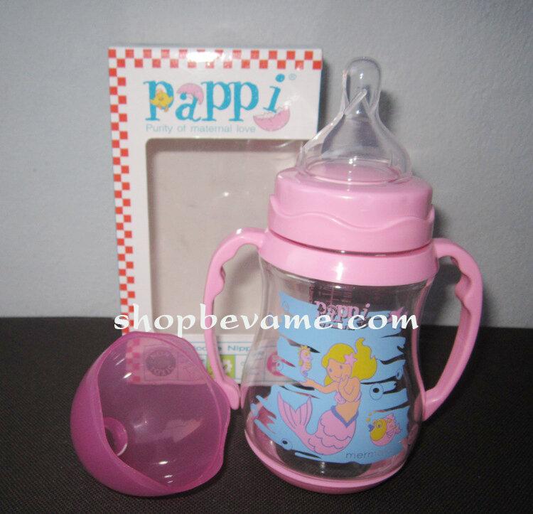 Bình sữa cổ rộng Pappi Thái Lan 250ml