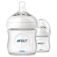 Bình sữa đôi Avent mô phỏng tự nhiên Natural Philips Avent SCF69027 (SCF692.27/691.27/SCF690.27) - 125ml