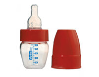 Bình sữa Microbiberon 50ml cổ hẹp, núm ti silicone, 3 tốc độ Dodie - cho bé từ 0-6 tháng