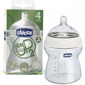 Bình sữa Step Up Chicco 4m+ dòng chảy nhanh 250ml
