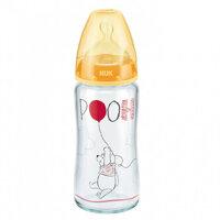 Bình sữa thủy tinh Nuk Disney núm silicone S1-M NU34426 - 240ml
