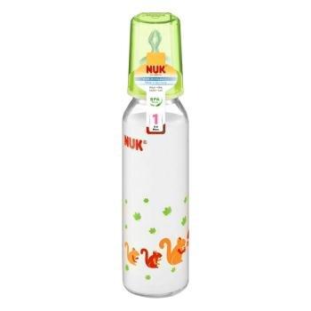 Bình sữa thủy tinh núm ti silicone số 1 Nuk 745008 - 250ml