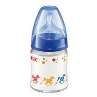 Bình sữa thủy tinh núm ti silicone số 1 Nuk 747044 - 120ml