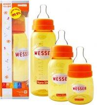 Bình sữa Wesser nano silver đủ dung tích