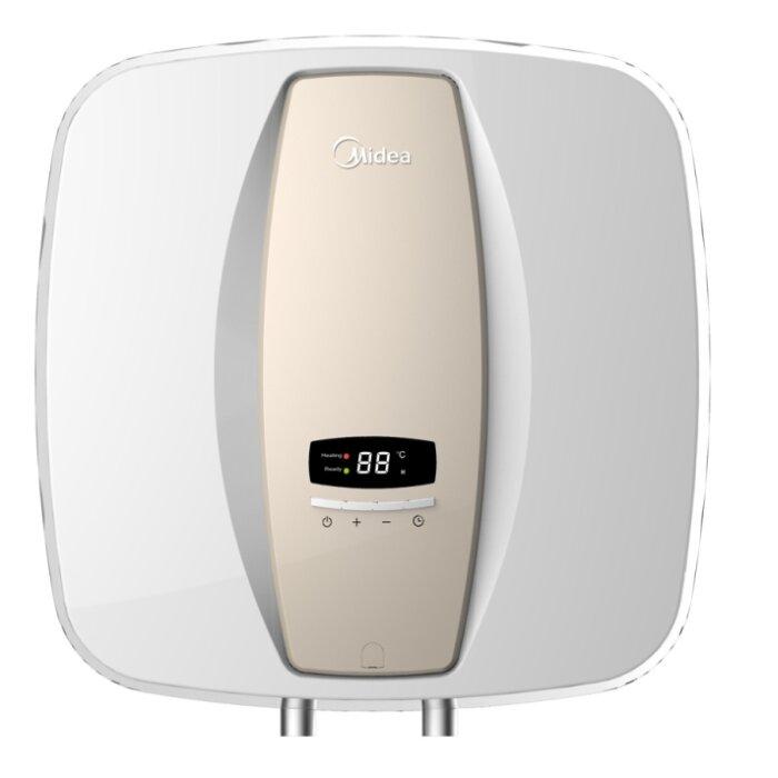 Bình tắm nóng lạnh gián tiếp Midea D1525EVA (D15-25EVA) - 15 lít + vòi sen, dây dẫn nước