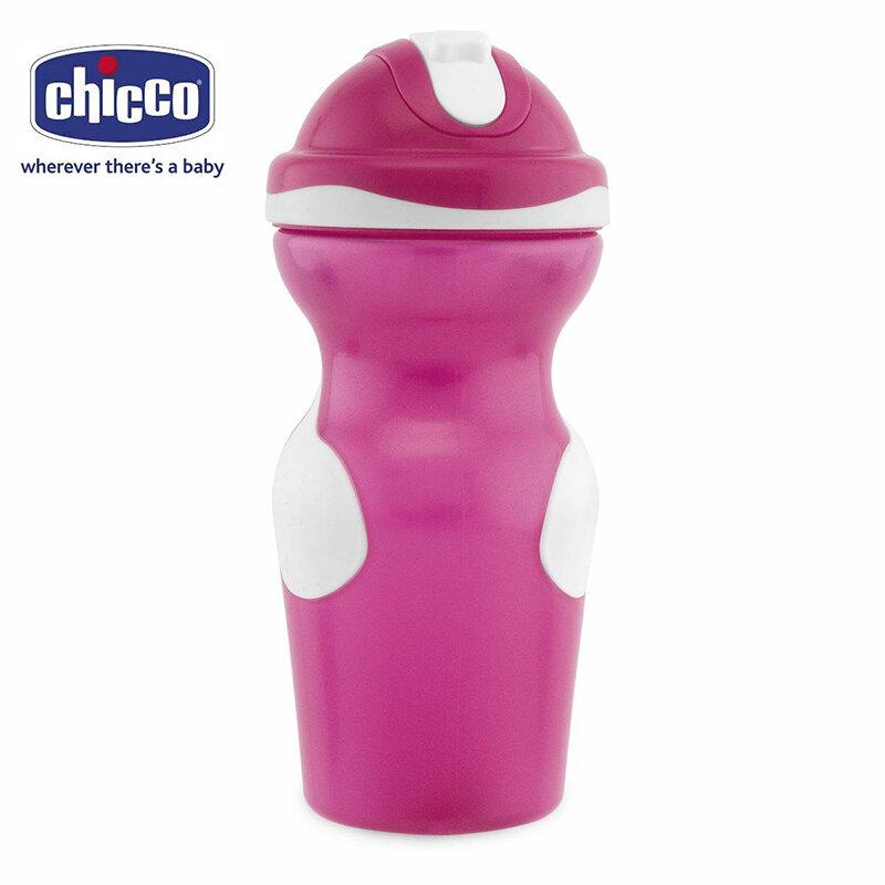 Bình tập uống có ống hút Chicco 350ml 18M+