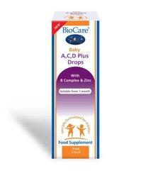 Biocare Baby Bổ Sung Vitamin A, C, D Dạng Giọt Cho Bé, 15ml ( Cho bé từ sơ sinh trở lên)