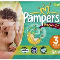 Tã dán Pampers Baby-Dry số 3 - 34miếng (dành cho trẻ từ 4-9kg)