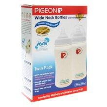 Bộ 2 bình sữa cổ rộng Pigeon BS22035 - 300ml