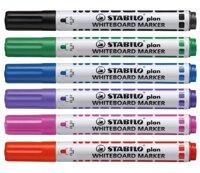 Bộ 2 cây bút lông viết bảng Stabilo Plan Whiteboard Marker WM64 + 1 hộp mực