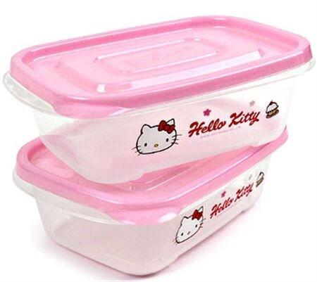 Bộ 2 hộp nhựa 2 ngăn Hello Kitty Lock&Lock LKT804 520ml