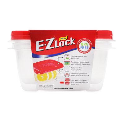 Bộ 2 hộp nhựa Ezlock nắp đỏ Lock&Lock HLE6324S 800 ml