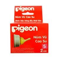 Bộ 2 núm ti cao su Pigeon NV22001 - Size S