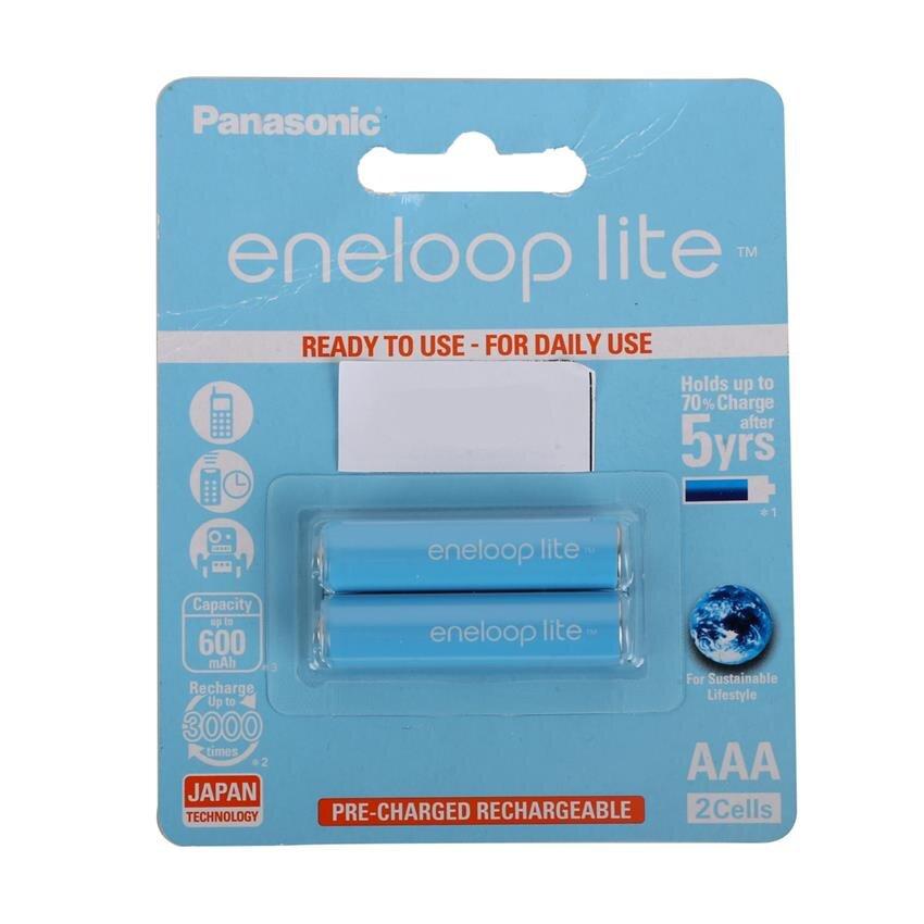 Bộ 2 pin sạc AAA Panasonic Eneloop Lite 600mAh