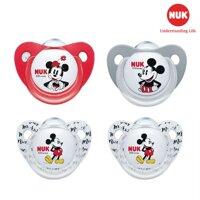 Bộ 2 ty ngậm Nuk Mickey Plus silicon (0 - 6 tháng)