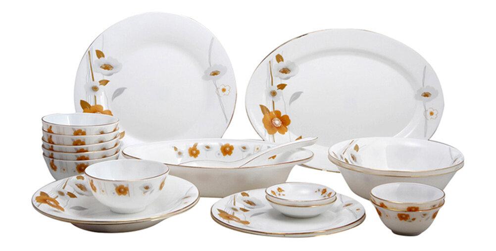 Bộ 20 món đồ dùng bàn ăn thủy tinh ngọc Vitriares 951-20T