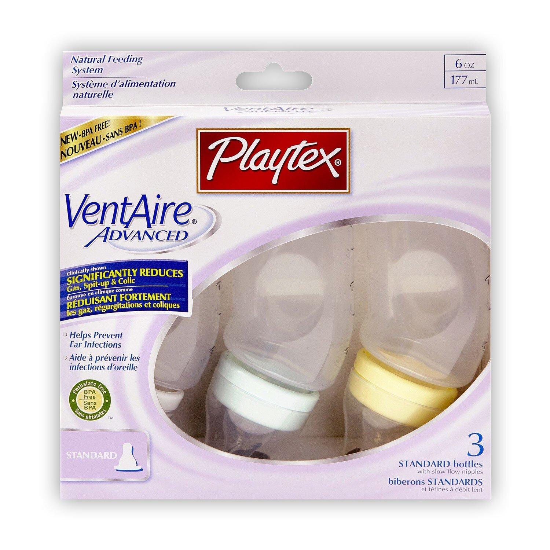 Bộ 3 bình sữa cổ thường Playtex - 177ml