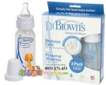 Bộ 3 bình sữa Dr.Brown's 120ml