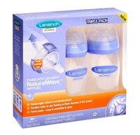 Bộ 3 bình sữa Lansinoh mOmma, NaturalWave Nipple 240ml