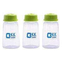 Bộ 3 bình trữ sữa mẹ KK Smart KK014