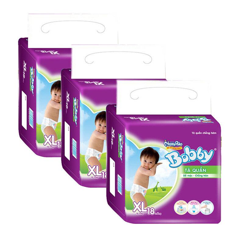 Bộ 3 tã quần Bobby XL18
