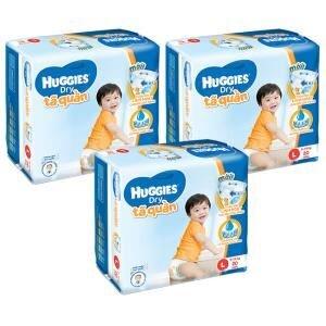 Bộ 3 tã quần Huggies Dry L20
