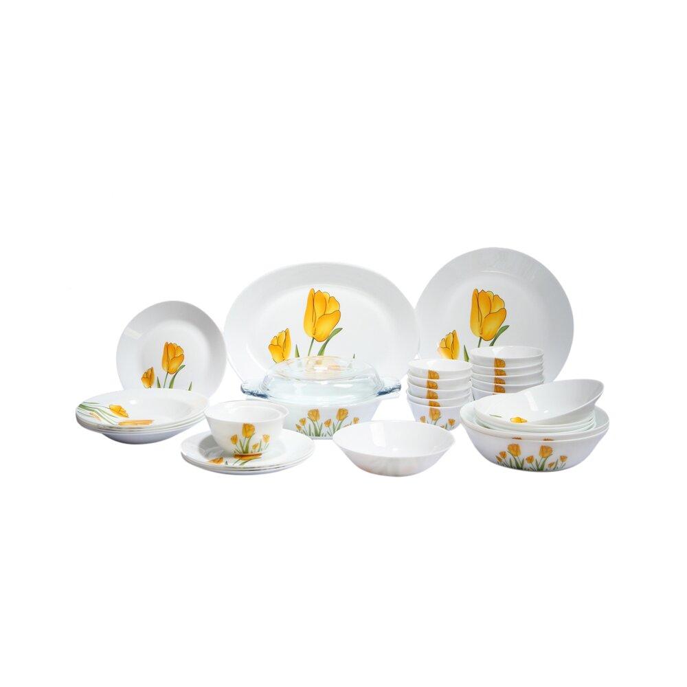 Bộ 32 món đồ dùng bàn ăn La Opala Diva 32TP