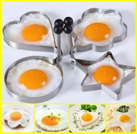 Bộ 4 khuôn chiên trứng inox (Trắng)