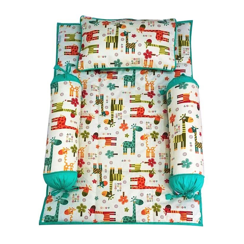 Bộ 4 Món Ra Gối Sleep Baby F126-Colorful Giraffe 2