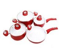 Bộ 4 nồi chảo tráng men ceramic Hatsu MP-P007