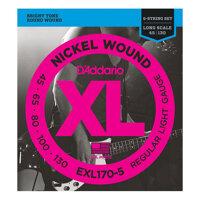 Bộ 5 dây đàn guitar bass D'Addario EXL170-5