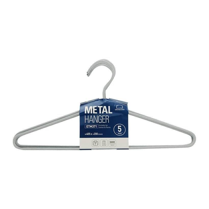 Bộ 5 móc treo quần áo Lock&Lock Ettom bằng kim loại bọc vải ETM371