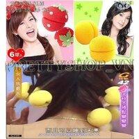 Bộ 6 bông quấn tóc hình tròn, trái dâu - TC019
