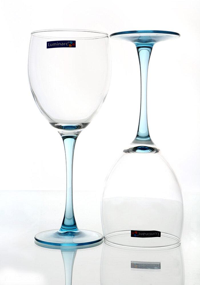 Bộ 6 Ly rượu thủy tinh Luminarc Signature Ice Blue D3863 350ml