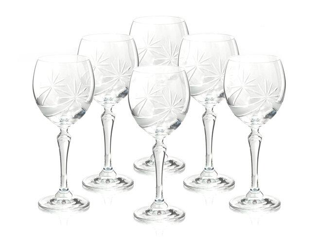 Bộ 6 ly thủy tinh uống rượu vang Bohemia 2227/17002/250