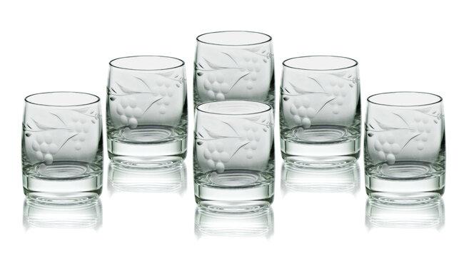 Bộ 6 ly thủy tinh uống rượu vang Bohemia 25015/00001/1000/060