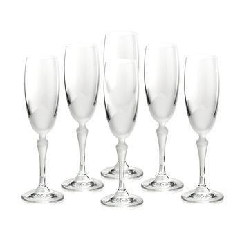 Bộ 6 ly thủy tinh uống Champagne Flute Bohemia 2227/00005/6005/160