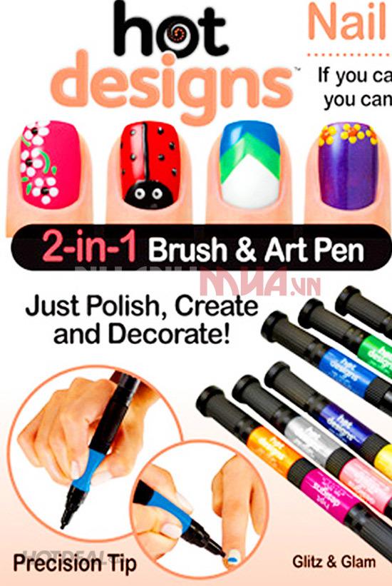 Bộ 6 màu vẽ móng Hot Designs